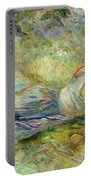 Shepherdess Resting Portable Battery Charger by Berthe Morisot