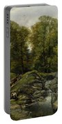 Shepherds Next To A Brook By Thomas Creswick Portable Battery Charger