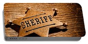 Sheriff Badge - Sepia Portable Battery Charger