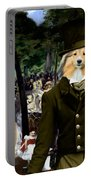 Shetland Sheepdog Art Canvas Print - Music In The Tuileries Gardens Portable Battery Charger