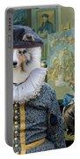 Shetland Sheepdog Art Canvas Print - The Painter And His Studio Portable Battery Charger