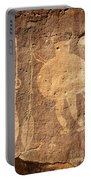 Shield Figure With Weapons Petroglyph Portable Battery Charger