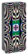 Shimmering Plaid Fractal 66 Portable Battery Charger