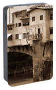 Shops On The Ponte Vecchio Portable Battery Charger