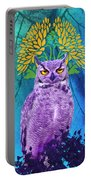 Owl At Night Portable Battery Charger