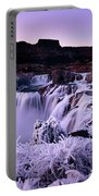 Shoshone Falls In Winter Portable Battery Charger