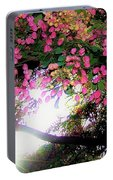 Shower Tree Flowers And Hawaii Sunset Portable Battery Charger