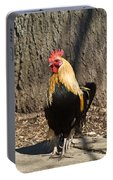 Showy Rooster Posed Portable Battery Charger