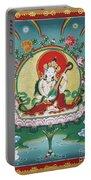 Shri Saraswati - Goddess Of Wisdom And Arts Portable Battery Charger