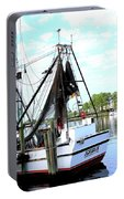Shrimp Boat Portable Battery Charger by Annette Allman