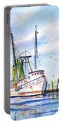 Shrimp Boat Gulf Fishing Portable Battery Charger