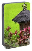 Shrine In Rice Field Portable Battery Charger
