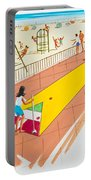 Retro Shuffleboard Art From The 1960's Portable Battery Charger