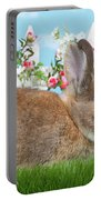 Shy Brown Dwarf Bunny Portrait Portable Battery Charger