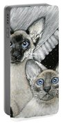 Siamese Cats Portable Battery Charger