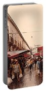 Sicilian Market After The Rain Portable Battery Charger