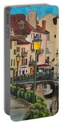 Side Streets In Annecy Portable Battery Charger
