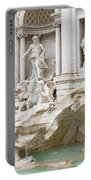 Side View Of The Trevi Fountain In Rome Portable Battery Charger