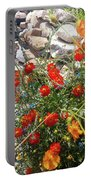 Sidewalk Flowers Portable Battery Charger