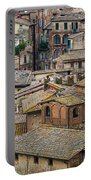 Siena Colored Roofs And Walls In Aerial View Portable Battery Charger