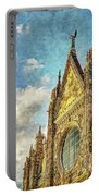 Siena Duomo Facade In The Sunset Portable Battery Charger