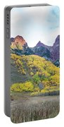 Sievers Peak And Golden Aspens Portable Battery Charger