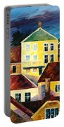 Sight From Above - Palette Knife Oil Painting On Canvas By Leonid Afremov Portable Battery Charger