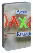 Sign Of Madre Oaxacan Restaurant Portable Battery Charger