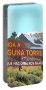 Trail Sign To Laguna Torre Portable Battery Charger
