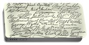 Signatures To The Declaration Of Independence Portable Battery Charger