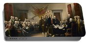 Signing The Declaration Of Independence Portable Battery Charger