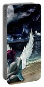 Silence Of An Angel Portable Battery Charger by Mo T