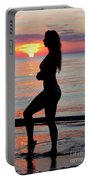 Silhouette Of A Fit Woman  Portable Battery Charger