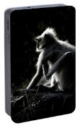 Silhouette Of A Monkey Portable Battery Charger