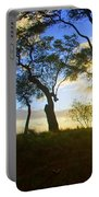 Silhouette Of Trees Portable Battery Charger