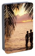 Silhouetted Couple Portable Battery Charger