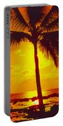 Silhouetted Palm Portable Battery Charger