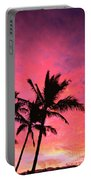 Silhouetted Palms Portable Battery Charger