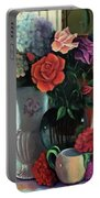 Silk Flowers Portable Battery Charger