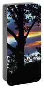 Silohuettes Of Trees Portable Battery Charger