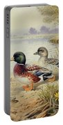 Silver Call Ducks Portable Battery Charger