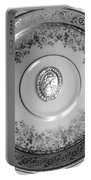 Silver Cameo Plate Portable Battery Charger