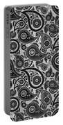 Silver Gray Paisley Design Portable Battery Charger