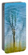 Silver Lake Tree Reflection Portable Battery Charger