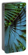 Silver Palm Leaf Portable Battery Charger