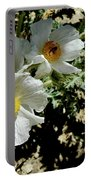 Silver Terrace Virginia City Nevada Flowers Portable Battery Charger