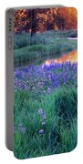 Silvery Lupine Portable Battery Charger