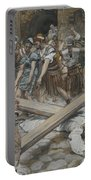 Simon The Cyrenian Compelled To Carry The Cross With Jesus Portable Battery Charger