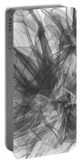 Simple Black And White Abstract Portable Battery Charger