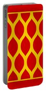 Simplified Latticework With Border In Mustard Portable Battery Charger